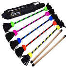 FLASH Flower Stick Set + Silicone Hand Sticks! Flower Devil Sticks Juggling