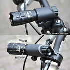 Bike Bicycle Front Light / CREE Q5 LED Flashlight Black 240 Lumens / Torch Clip