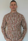 RUST PAISLEY PATTERN SHIRT MODS RETRO POP BOUTIQUE SCOOTER NORTHERN SOUL 60'S