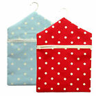 Dotty Spot Fabric Clothes Peg Bag Holder Hanger Laundry Pegbag heavy cotton