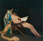 """The Reading Girl, c.1886- Theodore Roussel - 20x26"""" Nudes Art  Canvas"""
