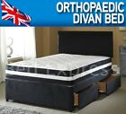 6FT SUPER KING SIZE ORTHOPAEDIC DIVAN BED + 10 INCH ORTHOPAEDIC MEDIUM MATTRESS