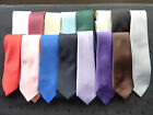 "QUALITY BOYS/CHILDRENS 45"" LONG TIES-SATIN FINISH - lots of colours"