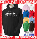 FORD CAPRI CLASSIC RETRO CAR HOODIE DTG ALL SIZE & COLOURS AVAILABLE R18