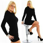SEXY MINIKLEID STRICKKLEID CLUB STRICKPULLI BUSINESS SCHWARZ XS S M 34 36 38 NEU