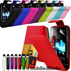 LEATHER FLIP CASE COVER,SCREEN PROTECTOR & STYLUS PEN FOR SONY XPERIA S LT26i