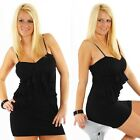 Sexy Minikleid Cocktail Club Party Style Stretch 33137 schwarz Neu
