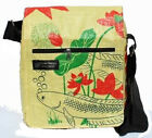 Fair Trade Recycled Fish Feed Small Messenger Bags Handmade in Cambodia!!