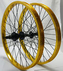 "BMX WHEELS: 20"" Pair 9 tooth micro drive 5 colours"