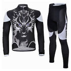 Cycling Bike Men Winter Bicycle Clothing Sport Suit Long Sleeve Jersey + Pants