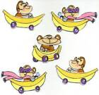 Bananas for Monkeys fabric scrapbooking card tag mat Embellishments