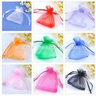 50pcs 7x9cm Organza Gift Bags Jewelry Wedding Candy Party Pouch Favor Colors