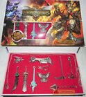 LOL League of Legends 9PCS Characters Weapons Collection Full Metal Game Gift