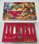 LOL League of Legends 11PCS Characters Weapons Collection Full Metal Game Gift