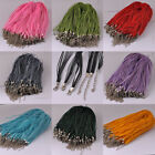 Whosale 100pcs Ribbon Voil Cord Chain With Clasp Necklace Diy Finding 5612 HOT