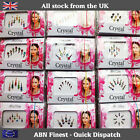 Indian Stick on / Sticker Crystal Silver Diamante Bridal Head Bindi Tikka Tattoo