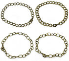 Charm Bracelets Antiqued Brass Steampunk Chain Link 8 inch Jewelry Lot of 4