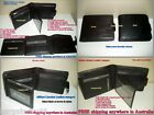 New! MILLENI Mens Biflod Genuine Leather Wallet/Note ID Card Coin Pocket Holder