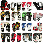Auth Maxx Rex Leather Gel Boxing Gloves Muay Thai Grappling Pad Punch Bag Mma uf
