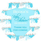 1xA4 Sheet Personalised BABY SHOWER PARTY bags favours stickers labels babygro B
