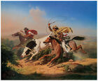 Vaqueros Roping a Steer, 1866, Charles Christian Nahl  - Horse Art on Canvas