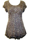 New fine leopard print fabric burnout top from Marks and Spencer sizes 6 10 16