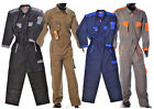 Hymac Work Wear Overalls Zip Up Front Coveralls Mens Mechanics Boilersuit HYM702