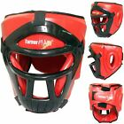 TurnerMAX MMA Boxing Headguards Face Head protector Helmet Martial Art with mask