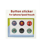 6pcs Home button Sticker Beverage Logo For iPhone 4G 4S 3G 3GS iPod Touch