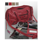 Classic Mini City MED Motorcycle Tote Cross Shoulder Bag Real Lambskin Leather
