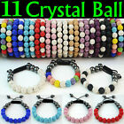 Limited Quality Sparkling Shamballa Braelet 11 Czech Crystal Disco Clay Balls