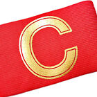 Football Soccer Gear Adjustable Captain Armband Player Arm Band Golden C NEW