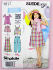 Simplicity 1817 Sewing Pattern Girls Dress Trousers, Top, & Shorts  - Suede Says