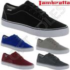 MENS LAMBRETTA CANVAS SHOES BOYS CASUAL BLACK DECK PUMPS PLIMSOLLS TRAINERS SIZE
