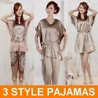 New Fashion Women's Hangzhou Silk Satin Style Pajamas / Nightdress *Free Post*