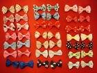Bows Ties HAIR COLLAR LEAD Clip In DOG PUPPY CAT Pet Present Gift Ribbon TREAT