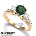 14k Rose Gold 1.10 CWT Russian Chrome Diopside .80 CWT Diamond Engagement Ring