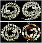 K56619 Surface Carved Crystal loose beads 16""