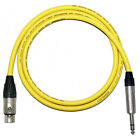 *Custom Length* Yellow VanDamme Balanced Pro Studio Cable Stereo Microphone Lead