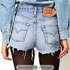VINTAGE Womens LEVIS DENIM SHORTS High Waisted Hotpants JEAN 6 8 10 12 14 16