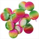 3 Candy Colors New Round Oblate Synthetic Shell Charms Beads Findings