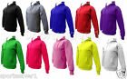 Mens Womens Plain Hooded Hoody Jumpers Sweater Top Casual Sport Gym Sizes S_XL