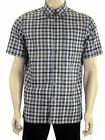 Marks & Spencer Blue Harbour Luxury M&S Pure Cotton Short Sleeve Check Men Shirt