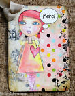 Hang Tags  FRENCH GIRL MERCI THANK YOU TAGS or MAGNET #621  Gift Tags