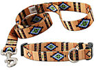 Deluxe Patterned Dog Collar & Matching Leash Set-Various Patterns & Sizes