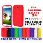 GRIP SILICONE GEL CASE  COVER FITS SAMSUNG GALAXY S4 I9500 FREE SCREEN PROTECTOR