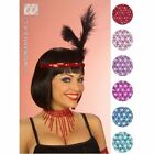 Flapper beaded choker 1920s pink or blue sparkly fancy dress gangster moll