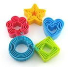 Cookie Cutter Set, Star Flower Heart Round Square Shape Pastry Biscuit Cutter US