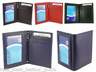 Leather Travel Bus Oyster Pass Card Holder with Twin ID Windows - 4 Colours