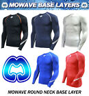mowave men compression athletic baselayer sports shirts long sleeve round neck
